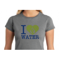 """I Heart Water"" Women's Fitted Shirt"