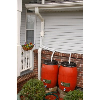 Double Rain Barrel Diverter System Double Capacity