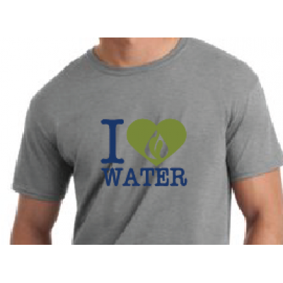 "RainReserve ""I Heart Water"" Mens Shirt"